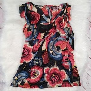 Juicy couture floral print tank top